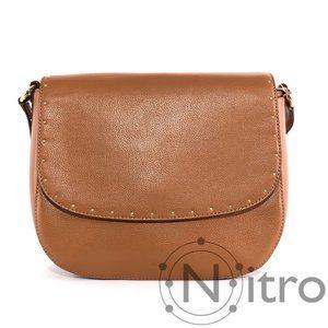 Ralph Lauren Cobden Leather Saddle Bag NWT